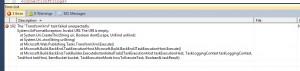 TransformXml task failed unexpectedly