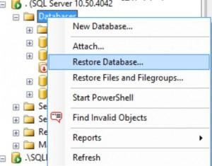 Restore Database backup